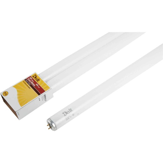 Do it 20W 24 In. Cool White T12 Medium Bi-Pin Fluorescent Tube Light Bulb (2-Pack)