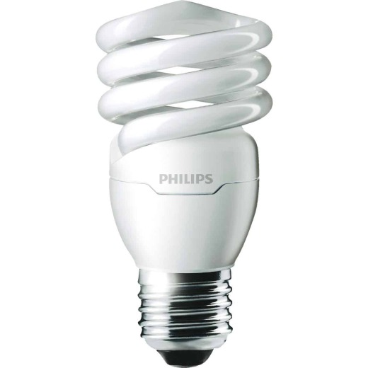 Philips Energy Saver 60W Equivalent Warm White Medium Base T2 Spiral CFL Light Bulb
