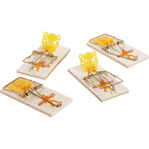 JT Eaton Bigfoot Mechanical Mouse Trap with Expanded Trigger (4-Pack)