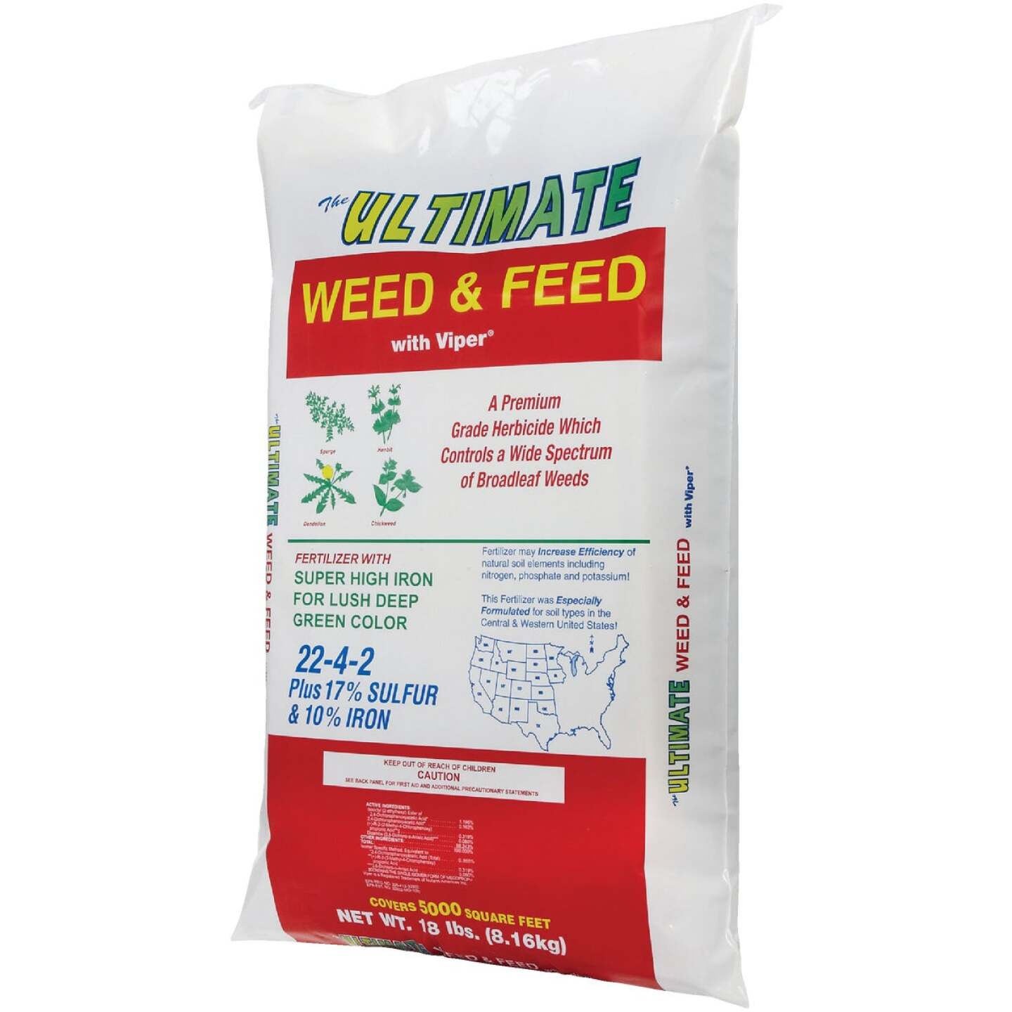 Ultimate Weed & Feed 18 Lb. 5000 Sq. Ft. 22-4-2 Lawn Fertilizer with Weed Killer Image 3
