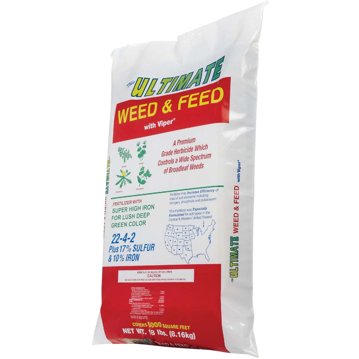 Ultimate Weed & Feed 18 Lb. 5000 Sq. Ft. 22-4-2 Lawn Fertilizer with Weed Killer Image 5