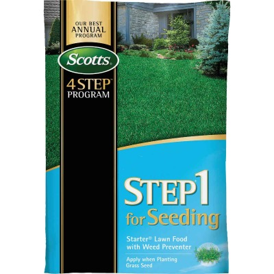 Scotts 4-Step Program Step 1 21.62 Lb. 5000 Sq. Ft. 21-22-4 Starter Fertilizer with Crabgrass Preventer